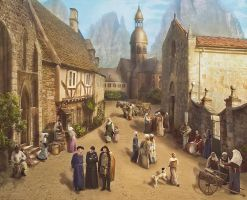 Sunday in the village by Lotta-Lotos