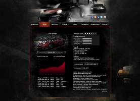 Need For Speed Web Template by ExExic