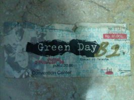 Green Day Concert Ticket 1996 by Punkmoses