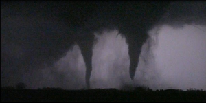 Identical Twin Tornadoes by Bvilleweatherman
