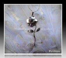 'Beauty and the Beast' sterling silver pendant by seralune