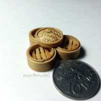 1:12 scale miniature dimsum steamer baskets by Snowfern
