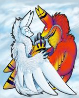 Jah and Winterbeast by furrytheinsane