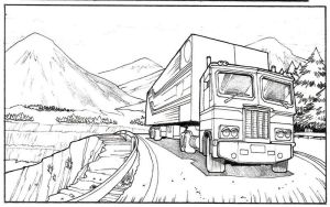 Optimus on the road by Whelljeck