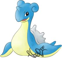 Lapras-Coloured Lineart by Noel-TF