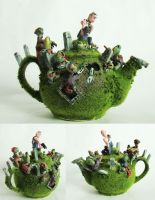 zombie attack teapot by richardsymonsart