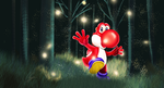 Yoshi's nightly dance with the fire flies by FurkanHolmes