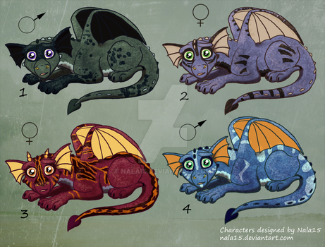 Little Dragons 4 - Adopts #1 OPEN (400 points) by Nala15