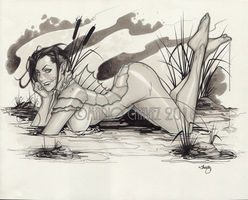 creature from the murky pond by MarioChavez