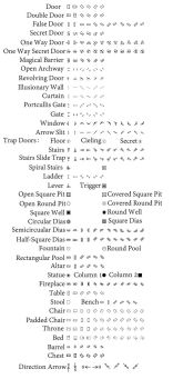 Dungeon Map Symbol Photoshop Brushes by jatna