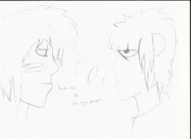 Random dude vs. Super Saiyan Murdoc! by earthly666