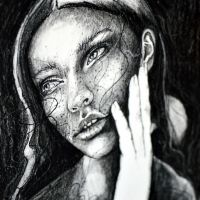 Charcoal study II, detail by jane-beata