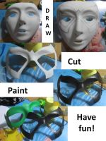 Easy and cheap super hero mask tutorial by minihumanoid