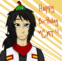 HAPPY LATE BDAY CAT by oofuchibioo