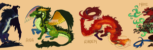 Smol Dragons by AriiKnave