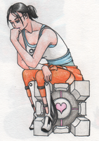 The Thinker - Portal 2 style by Hogia
