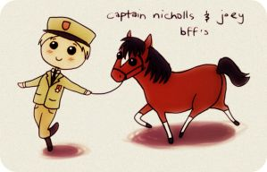 captain nicholls and joey by trazar