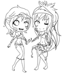 Comision 1 Lineart by Amalyha-chan