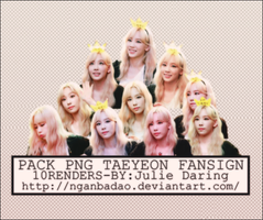 [Pack PNG #107] Taeyeon FANSIGN by nganbadao