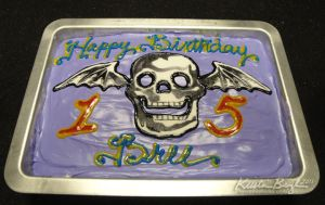Death Bat Birthday Cake by KrisCynical