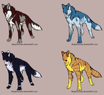 wolf adoptables *2/4 OPEN* by parangaricutthepussy