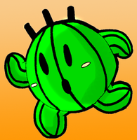 Kirby Cactuar by Bombkirby