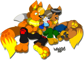 Fluffy Snuggles by Marquis2007