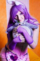 bunny girl and totoro by kittychamallow