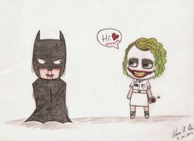 Batsy and Joker xD by Nannami
