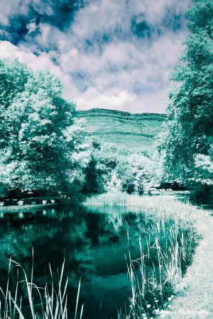 Infrared Cleopatra Lake in Sun by Okavanga