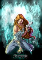 Witchblade on the floor by 00AceOfSpades00