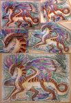 Izzy painting: Covered in rainbow feathers by Drerika
