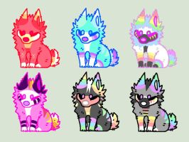 (OPEN) Auction Puppy Adopts by DragonDonuts