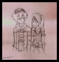 Lux and Ezreal by Afro-Muffin92