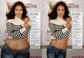 Olivia Wilde Weight gain morph by gigakirby