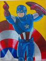 Captain America painting - 2012 by andrecamilo20