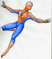 Spidey watercolor by cflare