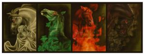 The Four Horsemen Of the Apocalypse by dragonett3