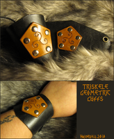 Triskele Geometric Cuffs by TheScreamingNorth