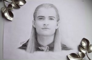Legolas (Orlando Bloom) LOTR pencil by push-pulse
