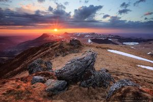 Sunset from the Puy de la Tache by MaximeCourty