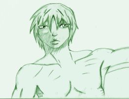 Shirtless Guy 1 sketch by FEARprototype