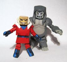 Red Ghost and Super Ape Custom Minimates by luke314pi