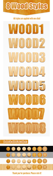 Free Pack 8 Wood Photoshop Layer Styles by juliuscaesarrock
