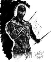 G.I.Joe Snake-Eyes (sketch) by PsychedelicMind