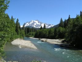 Mt Shuksan and Nooksack River by Pessimistic-Optimist