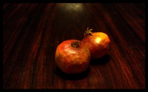 pomegranate and wood 2 by kenpunk79