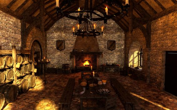Background Medieval Kitchen_01 by Ladesire