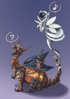 WALL-E dragons by Akiro-Atalanta