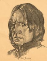 Portrait of Snape by ReneAigner